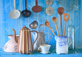 various teal kitchen. Stock Photo - Various Vintage Kitchen Utensils, Culinary, Cooking Concept Teal O