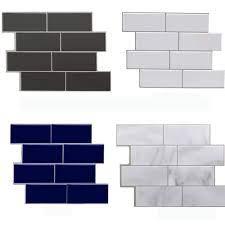 DIY Subway Tile Grey Brick 3D Self ...