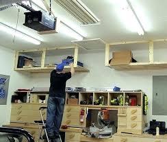 suspended garage storage loft shelves hanging shelf plans