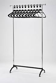 office coat racks. RACK51 Chrome Coat Stand. Office Rack With Black Hangers Racks