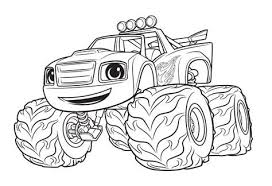 Monster Machine Coloring Pages Blaze Kids Coloring Coloring