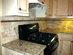 stone kitchen backsplash. Natural Stone Kitchen Backsplash Contemporary Ideas With Brown Subway Regarding