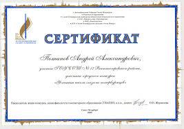 uspeh jpg Сертификат участника городского конкурса Успешная школа глазами петербуржцев 2009 г