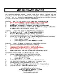 bsis guard card