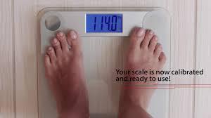 How To Calibrate The EatSmart Precision Digital Bathroom Scale ...