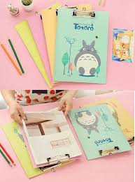 trendy office supplies. Studio Ghibli Totoro A4 Clipboard Cute School Supplies- Pink Office Supplies Gift For Girl, Trendy