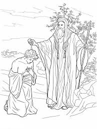 Small Picture Samuel Anoiting Saul as King in King Saul Coloring Page NetArt