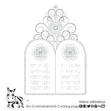Free Printable Ten Commandments Coloring Pages For Kids At