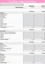 Budget List Template Personal Monthly Budget Template