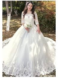 cheap plus size wedding dresses with sleeves for women online