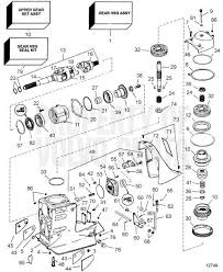 volvo penta exploded view schematic upper gear unit sx c1 sx ct1 exploded view schematic