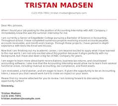 How To Make A Cover Letter For Internship Accounting Internship Cover Letter Examples Samples