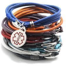 designer quality medical alert nappa leather bracelet for women by redmedid