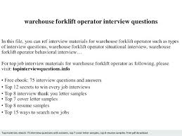 Lift Truck Driver Resume Forklift Examples Brilliant Ideas Of