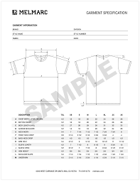 product spec sheet template what is a garment spec melmarc a full package screen printing