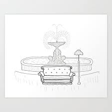 sofa art print by dotted ink society6