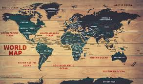 World Map Posters World Wood Map Poster