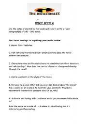 worksheet movie review template english worksheet movie review template