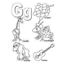 This section includes, letter g coloring pages for every age available free. Top 25 Free Printable Letter G Coloring Pages Online