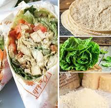 chicken kitchen wrap calories