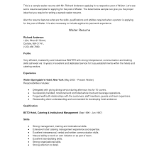 Cocktail Waitress Job Description For Resume Inspiration Sample Waitress Resume Australia Also Waiter Samples 41