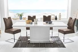 Tisch Esstisch Hochglanz Weiß Edelstahl Fuß Kaufen Bei