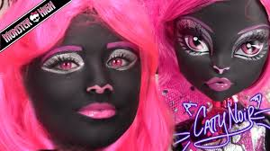 monster high catty noir doll costume makeup tutorial for or cosplay kittiesmama