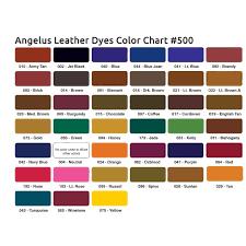 Fiebings Suede Dye Color Chart Leather Dye Colors