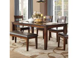 Homelegance Mantello Transitional Dining Table With Table Leaf