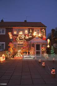 Small Picture House With Christmas Decorations England Uk Stock Photo Getty Images