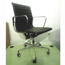 eames ribbed chair tan office. eames style ribbed leather office c chair tan