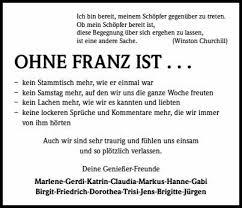 Franz Harich Trauer Traueranzeigen Nachrufe Badische Zeitungde