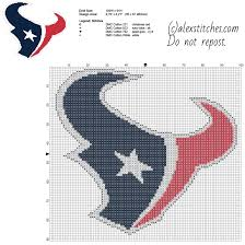 Free Cross Stitch Pattern Maker Interesting Houston Texans National Football League NFL Team Free Cross Stitch