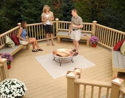 Fire Pits On Decks Contemporary Fire Pits Deck Contemporary With