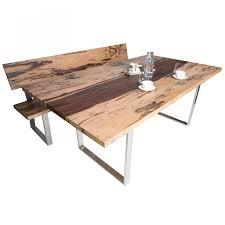 Sitzbank Aus Holz Mit Lehne In Edelholz Design Optik