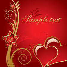 red gold valentine s heart background
