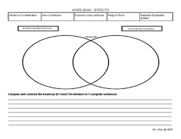 Compare American And French Revolution Venn Diagram Comparing The American French Revolutions By
