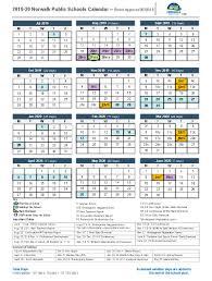 School Calendar 2015 16 Printable District Calendar Norwalk Public Schools