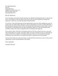 Letter Samples Sick Leave Letter Samples Resume Help