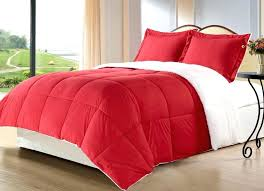 red king size comforter set 3 piece for red king size