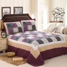China Washable Quilts Plaid 100% Cotton Purple Bedding Set - China ... & Washable Quilts Plaid 100% Cotton Purple Bedding Set Adamdwight.com