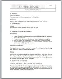 example short form our sample of a short form rfp template which you can use for your