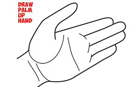 how to draw hands open palm drawing cartoon open palmed hands easy steps drawing lesson for beginners