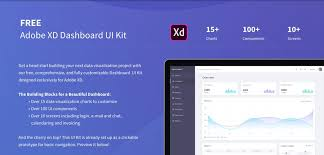 sales kit template free adobe xd dashboard ui kit xdguru com