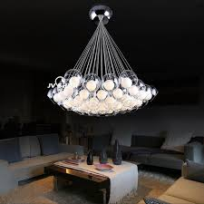 simple modern art bubble ball glass chandelier lighting living room chandelier stylish personality restaurant led glass ceiling lights hanging lamp shades
