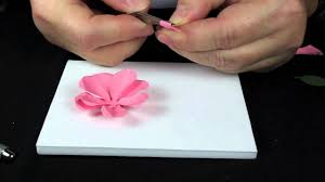 Paper Flower Punches How To Make A Paper Rose From Punches Stamping Fools Com Youtube