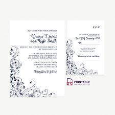 Wedding Invitation And Rsvp With Decorative Border
