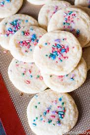 (do not eat raw cookie dough after combining with egg yolk and flour.) beat with electric mixer on medium speed until smooth. Chewy Sugar Cookies Recipe Pillsbury Copycat Easy Sugar Cookies
