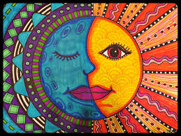 warm sun cool moon mexican folk art project for grades 3 5