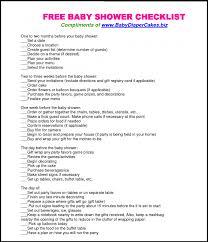 Baby Shower Party Checklist Rome Fontanacountryinn Com